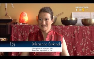 Vidéo youtube présentant les services de IngéniOse Ta Vie, Marianne Siskind Thérapeute en relation d'aide psychologique, massothérapeute Shiatsu et sonothérapeute